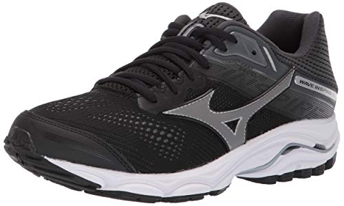 Mizuno Women's Wave Inspire 15 Running Shoe, Black-Dark Shadow, 12 W US