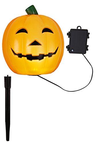 Tecstar Star Décoration de Jardin, LED Lampe de Halloween de potiron/Citrouille, Orange, 18 x 18 x 18 cm, 857–01
