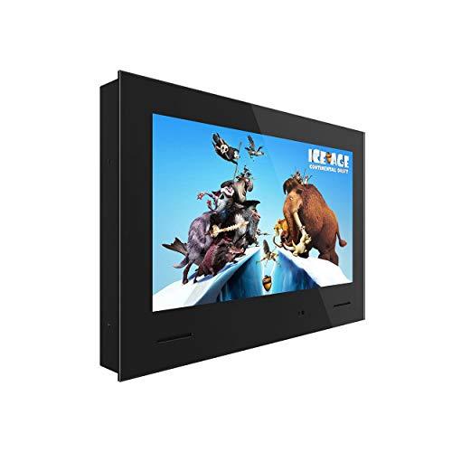 KUVASONG Waterproof TV, 24 inches bathroom Smart TV, DVB-T2/S2, with CI+ slot, HDMIx2, Full HD, USBx2, Wall Box installation