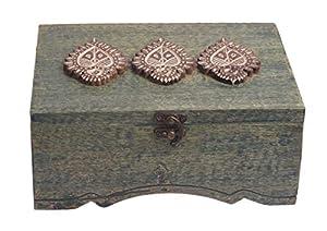 Storeindya Boîte à thé en bois faite à la main avec 6 compartiments