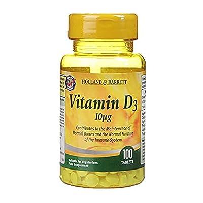Holland & Barrett Vitamin D3, 10ug - 100 Tablets