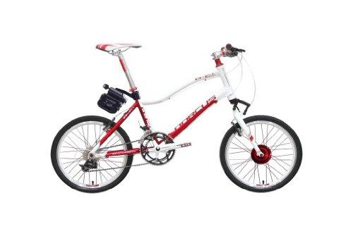 Dorcus DC-1 Emotion 20G - Bicicleta eléctrica (20 pulgadas, 24 V, 11,6 Ah), color rojo y blanco