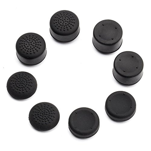 Pandaren Pack of 8 pcs Thumb Grip Thumbstick for PS5, PS2, PS3, PS4 Xbox 360, Wii U Controller (not for Xbox One Controller)