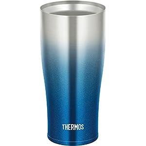 サーモス 真空断熱タンブラー 420ml スパークリングブルー JDE-420C SP-BL