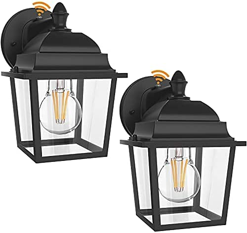 LityMax Outdoor Gifts Wall Lantern 2 with Lights t Limited time sale Dusk Exterior