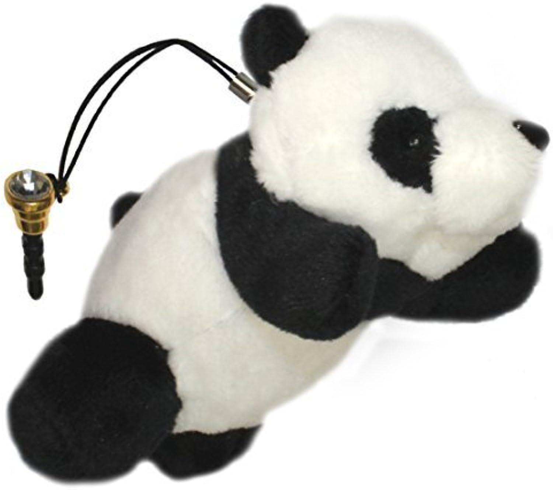 Lucore Mini 4 Happy Panda Cub Plush Stuffed Animal Toy Charm, Phone & Purse Decoration w  Faux Diamond Dust Plug by Lucore Home B01GDP5ORE Won hoch geschätzt und weithin Grünraut im in- und Ausland Grünraut    | Starke Hitze- und Abnutzungsbeständigkeit
