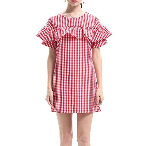 abito donna quadretti E-girl JR1554 - Vestito da donna