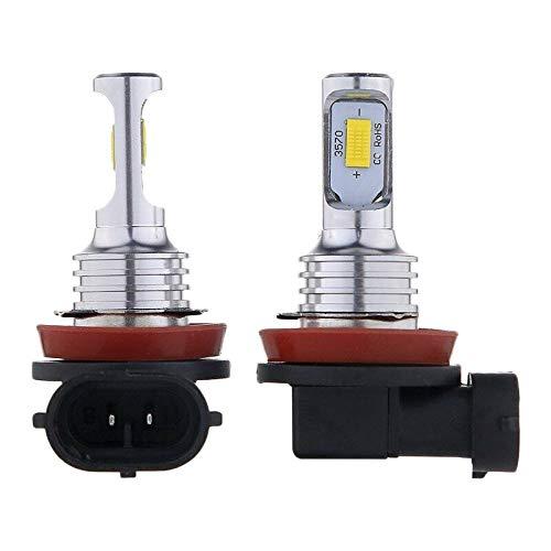 Milkvetch H11 H8 H16 80W 4000LM 3000K Amarillo Tech LED Kit de Bombillas de ConversióN de Luces Antiniebla