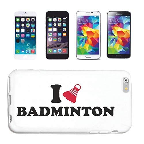 Helene Funda para teléfono móvil compatible con iPhone 7+, diseño de reglas de bádminton con texto en inglés 'I Love Badminton Reglamentes'