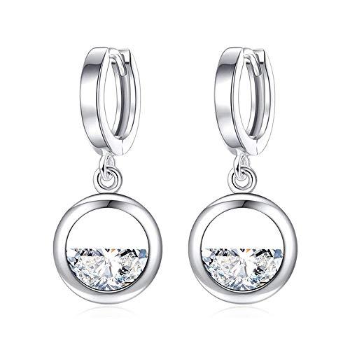Gymqian Quirky Earrings Half-Round Water Drop Earrings Jewelry Half Moon Earrings Imitated Zircon Earrings Female Stud Earrings for Girls Decorations/A