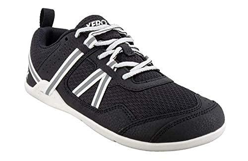 Xero Shoes Men's Prio Cross Training Shoe - Lightweight Zero Drop, Barefoot, Black/White, 11.5