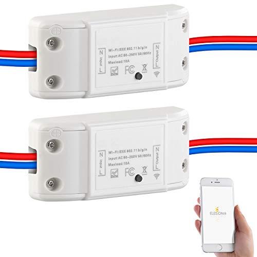 Luminea Smart Schalter: 2er-Set WLAN-Schalter für Licht, für Amazon Alexa & Google Assistant (Smart-WiFi-Switch Alexa)