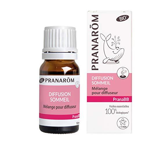 Pranarôm |Pranabb|Diffusion Sommeil Bio (Eco)|Mélange Huiles Essentilles Biologiques pour Diffuseur Spécial Bébé|10 ml