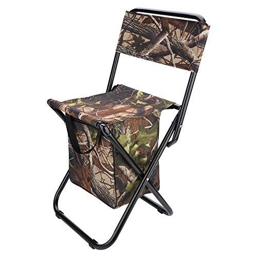 Chaises de Camping Chaise Pliante Portable Tabouret de siège avec Sac de Rangement pour la pêche en Plein air