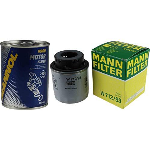 Original MANN Ölfilter W 712/93 + SCT Motor Flush Motorspülung