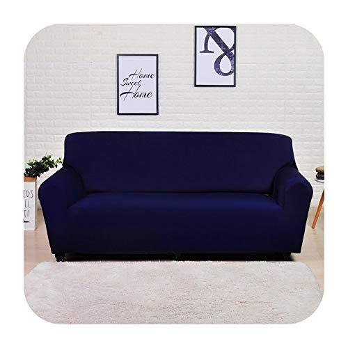Funda de sofá elástica geométrica para sala de estar moderna seccional esquina sofá funda de sofá cubierta de silla protector de 1/2/3/4 plazas, azul marino macizo, 1 plaza, 90-140 cm
