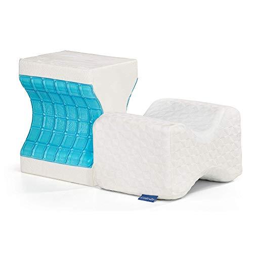EliGoGo - Almohada de espuma viscoelástica de gel de tercera generación, para las piernas y las rodillas, ortopédica, para dormir, espalda y viajes