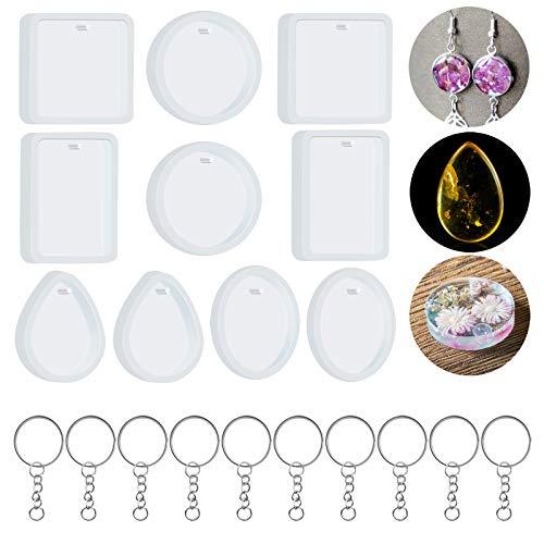 VINLINGDAI Moule porte-clés, moule en silicone souple pour la fabrication de bijoux bricolage