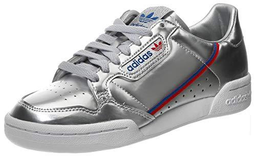 adidas Continental 80, Scarpe da Ginnastica Uomo, Silver Metallic/Silver Metallic/Crystal White, 44 2/3 EU