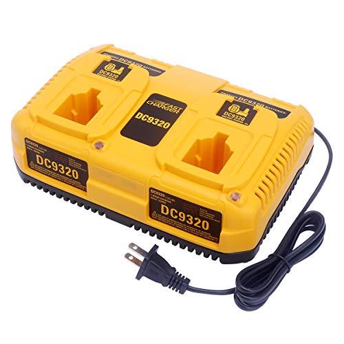 Biswaye 7.2V-18V Dual Port Battery Charger DC9320 Replacement for Dewalt 18V 14.4V 12V 9.6V 7.2V NiCd NiMh Pod Style XRP Battery DC9098 DC9099 DW9099 DC9096 DW9094 DW9072 DW9062 DW9057
