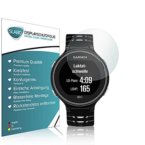 Slabo 4 x Bildschirmschutzfolie kompatibel mit Garmin Forerunner 630 Bildschirmschutz Schutzfolie Folie Crystal Clear unsichtbar Made IN Germany