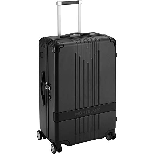 MontBlanc MY4810 Trolley Medium Small Black Spinner Suit Case Ident ID 118729