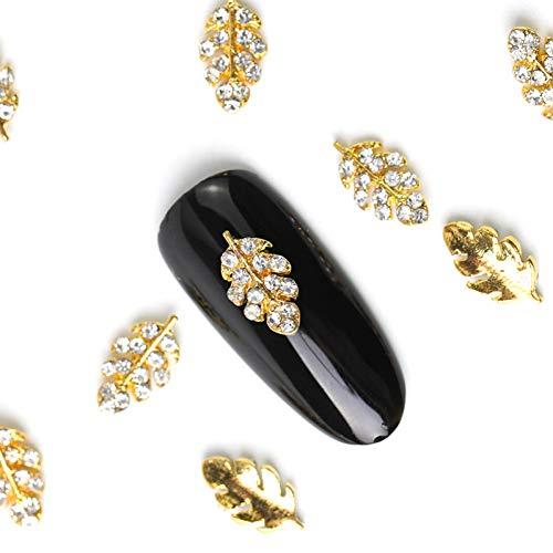 N-A 10 pièces Cristal Brillant Perle ongle Strass Alliage Nail Art décorations Paillettes Bricolage 3D Ongles Bijoux Pendentif