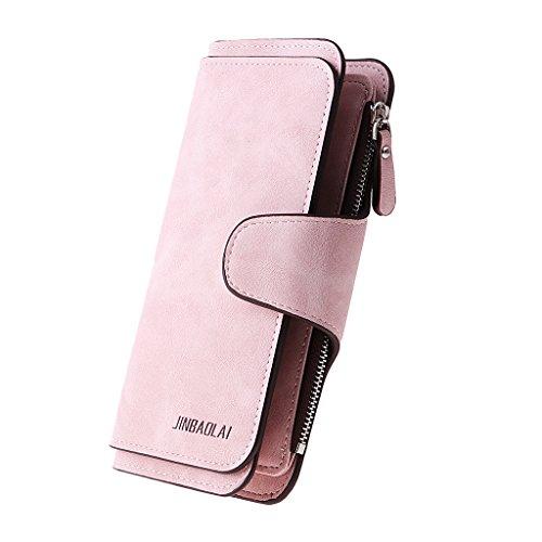MagiDeal Portefeuille Femme Poche Carte Crédit Pochette Mini Sac d'Embrayage Cadeau - Rose