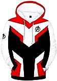 Silver Basic Hombres Vengadores Avengers Sudadera con Capucha Zip 3D Impresión Endgame Quantum Realm...