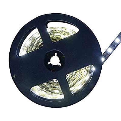 Lighten Glimmer LED Flexible Light Strip, 300 Units SMD 5050 LEDs, 12V DC, Light Ribbon Strips, DIY Christmas Holiday Home Kitchen Car Bar Indoor Party Decoration