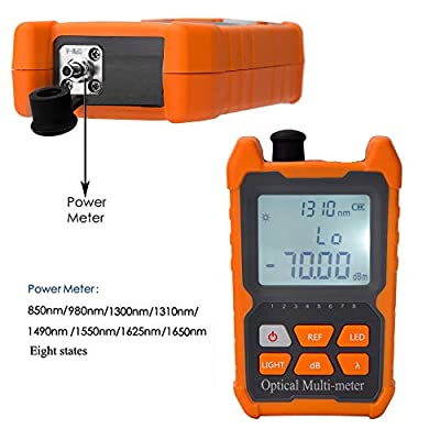D YEDEMC Fiber Optic Cable Tester Visual Fault Locator Portable Optical Power Meter Sc and Fc Connector Fiber Tester