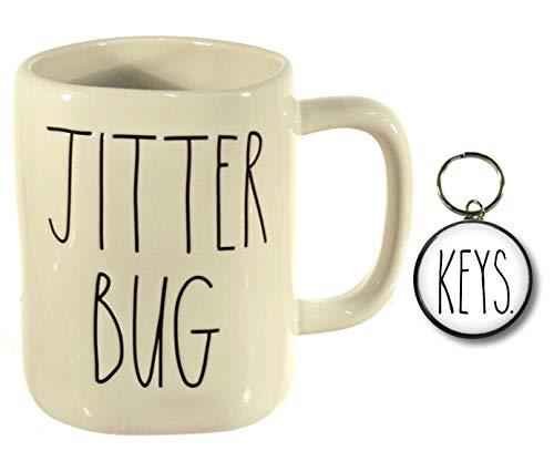 Rae Dunn Ostertassen mit großem Buchstaben für Kaffee, Tee, Kakao, Tasse und Magneten Jitter Bug