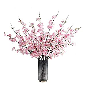 GALA 4PCS Artificial Flowers Cherry Blossom Silk Flowers for Wedding Office Party Hotel Yard Home Decoration 42.9 inch (Pink)
