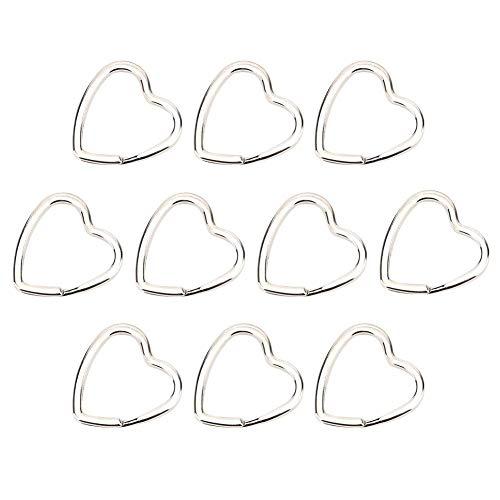WNSC Schlüsselanhänger, hochwertiger Ringschlüsselbund, Metall für Gürtel Schlüsselanhänger(Heart)