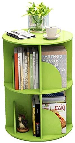 Estanteria Sencilla estantería 360 Grados de rotación Librero Suelos con Varias Capas de Almacenamiento de Almacenamiento en Rack estantería Xuan - Worth Having (Color : Green, Size : 40 * 66cm)