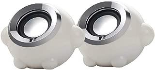 MINGTAI Speaker 2.0 Channel Portable USB Audio Desktop Notebook Audio (Color : White)