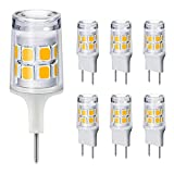 Dimmable G8 LED Bulbs, 20-25W Halogen Equivalent, T4 Type Bi-Pin Flat Base, 120V Natural White 4000K LED Puck Light Bulbs for Under Cabinet, GE Microwave Oven, Under Counter Kitchen Lighting (6 Pack)