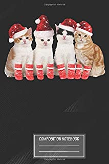 """Notebook: Funny Christmas Cat Meme Kittens With Santa Hats , Journal for Writing, Size 6"""" x 9"""", 164 Pages"""