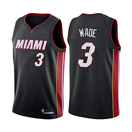 ZRHZB Miami Heat #3 Dwyane Wade Camiseta de Baloncesto Hombre Jersey Uniforme Malla Chaleco de la Camisa para niños Adolescentes Estudiantes(Tamaño: S-XXL),XL