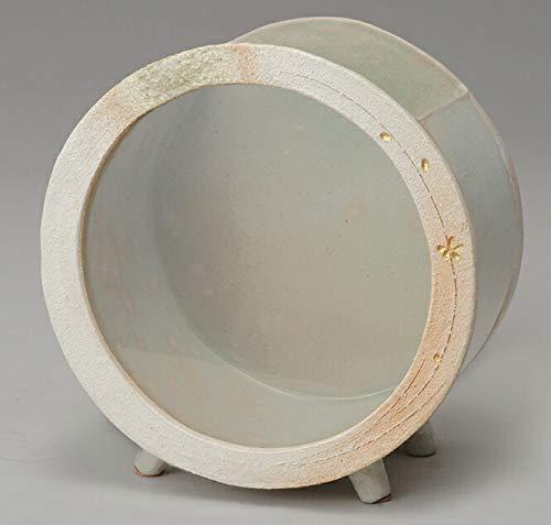 白金彩丸水槽(大) 信楽焼 金魚鉢 水槽 陶器 置物 めだか鉢 水鉢