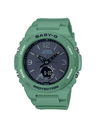 CASIO Damen Analog – Digital Quarz Uhr mit Resin Armband BGA-260-3AER