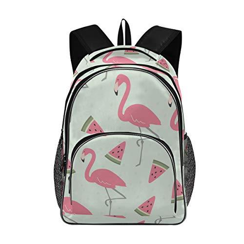 Flamingo Limón Mochila Librero Viaje Portátil Senderismo Camping Daypack Bolsa de Ordenador para Niños Niñas Estudiantes 2030161 - - talla única