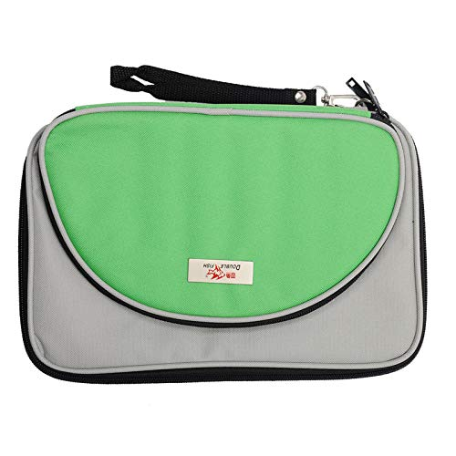 Best Bargain Double Fish Table Tennis Racket Case PingPong Racket Bag PingPong Cover 600D Oxford Pol...