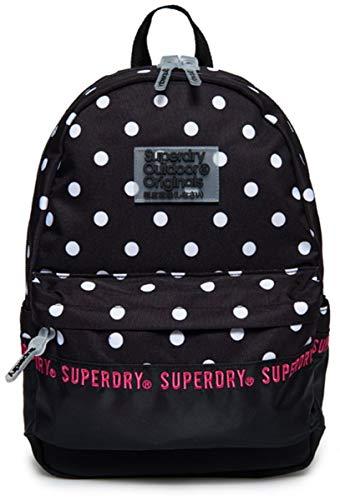 Superdry Repeat Series Montana Backpack (G91903JT), TQ4, Black Polka Dot