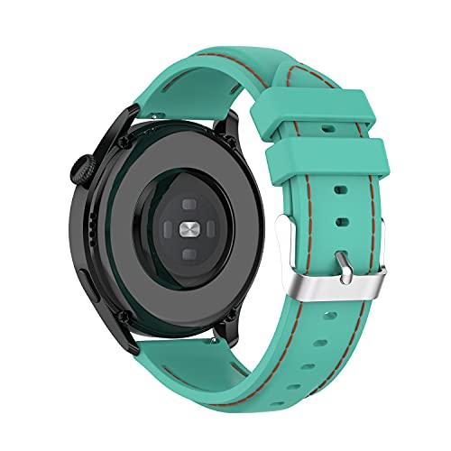 BoLuo 22mm Correa para Huawei Watch3/Huawei Watch 3 Pro,Bandas Correa Repuesto,Silicona Reloj Recambio Brazalete Correa Repuesto para Huawei Watch GT2 Pro/Watch GT 42mm/46mm/Garmin Venu 2 (verde 1)