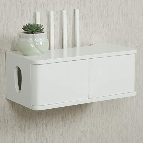 Enrutador flotante Engranaje de almacenamiento, caja de protección de zócalo, interruptor invisible, gabinete de TV montado en la pared para sala de estar/A / 40cm