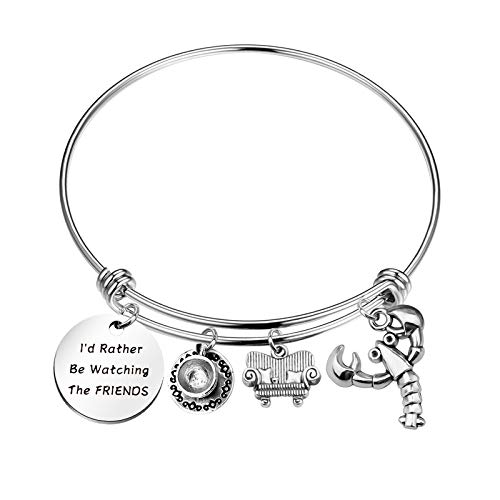 BAUNA Friends TV Show Gift Friends TV Show Fans Gift I'd Rather Be Watching Friends Fans Bracelet Friends Inspired Gift (Watch friend)