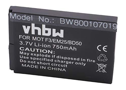 vhbw Li-Ion Akku 750mAh (3.7V) für Smartphone, Telefon, Handy AVM Fritz!Fon 2000 2446, AVM 2000 2446, MT-F wie BD50, SNN5796, SNN5796A, 312BAT006.