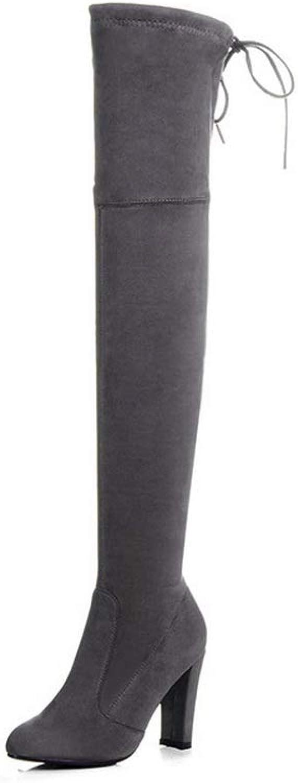 AdeeSu Womens Structured Nubuck Solid Brown Urethane Boots SXC03653-5 B(M) US