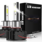 AUXIRACER Auto Lighting H1 LED Bombillas para Faros Delanteros 12000LM 6500K 60W Luz LED para Coche, Faros Delanteros y Faros Antiniebla IP65 a Prueba de Agua (2 PCS)